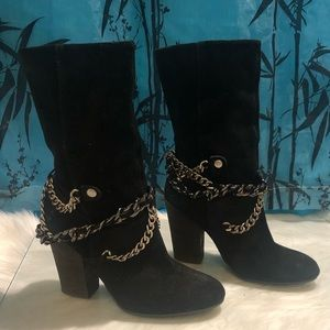 Suede Calf Boots
